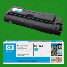 Genuine Original HP C4192A Laserjet Toner Print Cartridge Sealed Cyan 4500 4550