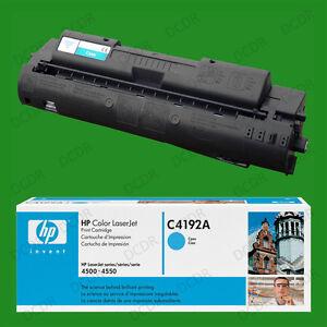 Genuine Original HP C4192A Laserjet Toner Print Cartridge Sealed Cyan 4500 4550