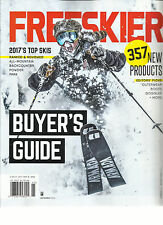 FREESKIER MAGAZINE,  2017 BUYER'S GUIDE     2017'S TOP SKIS    SEPTEMBER, 2016