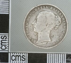 GREAT BRITAIN Victoria Young Head Silver SHILLING 1/- Coin 1845
