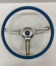 Comfort Grip Steering Wheel Kit Blue Cushion 3 Spoke Camaro Chevelle Nova Elcam