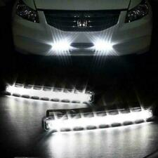 2x Car Vehicle 8-LED Daytime Running Light DRL White Bright Front Fog Strip 12V