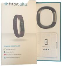 Used Fitbit Alta Tracker Plum Large Extra Plus Charger And 4 Bands One Leather