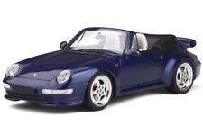 PORSCHE 911 (993) TURBO CABRIOLET DARK BLUE 1/18 MODEL CAR BY GT SPIRIT GT257