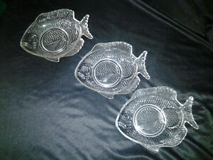 Embossed Glass Fish Plates Arcoroc