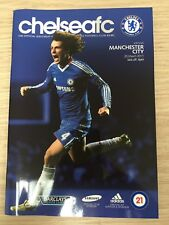 Chelsea Vs Manchester City Football Programme 20th March 2011