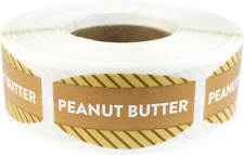 Peanut Butter Grocery Market Stickers, 0.75 x 1.375 Inches, 500 Labels Total