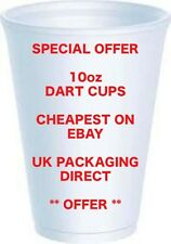 Dart 10oz Cups Foam Disposable Polystyrene x 100 Offer Tea Coffee Hot cold Cheap