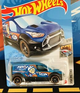 """2021 Hot Wheels - """"FORD TRANSIT CONNECT"""" - #7/250 - Blue"""