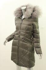 a12d8a56a84 DAWN LEVY Mushroom Cloe Fox Fur-Trim Hooded Down Coat S  895