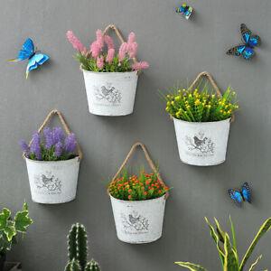 Eisenblech Blumentopf halbrunde Wand Blumen-Behälter Kreativ hängend Blumen-Topf
