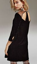 BNWT Little White Lies Urban Outfitters Star Noir Velours Velvet Dress Large L