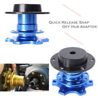 Steering Wheel Quick Release Snap Off Hub Racing Adapter Boss Kit Fit Car Blue