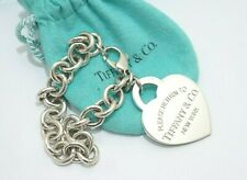 """Tiffany & Co. Sterling Silver Large Return To Tiffany Heart Tag Bracelet 7.5"""""""