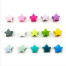 DIY  10pcs Food grade silicone star beads Baby Molar Teethers Baby Pacifier clip