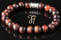 rotes Tigerauge Armband Bracelet Perlenarmband rot 8mm