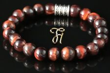 rotes Tigerauge Armband Bracelet Perlenarmband rot