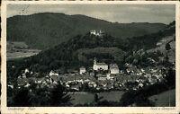 Leutenberg Thüringen 1928 Blick von Georgsitz Verlag König gelaufen Hartenstein