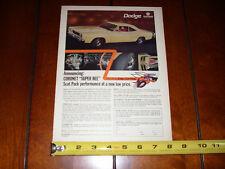 1968 DODGE CORONET SUPER BEE - ORIGINAL VINTAGE AD