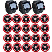 Coffee Shop Restaurant Guest Watch Calling Queuing System 20 Pagers 999CH 433MHz