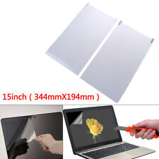 1Pc 15 inch Monitor Laptop LCD Clear Screen Guard LED Protector Film Cover.ft