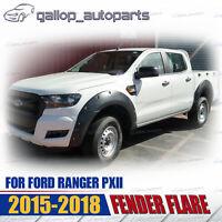6x Fender Flares Matt Black For Ford Ranger PX2 XL XLT WILDTRAK 2015-2018