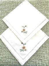 Two cotton table napkins 40x40cm
