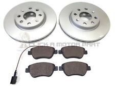 FIAT GRANDE PUNTO 1.4 SPORT 2006-2011 FRONT 2 VENTED BRAKE DISCS AND PADS SET