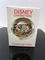 MIB SCHMID DISNEY CHARACTERS 1990 A HOLLY,JOLLY CHRISTMAS ORNAMENT MICKEY/MINNIE
