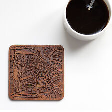 Amsterdam map coaster One piece  wooden coaster Multiple city IDEAL GIFTS