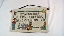 Grandparents Gift Wall Plaque Hanging Decor Needlepoint Grandparents So Easy