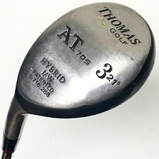 Thomas Golf AT705 21*Degree 3 Hybrid Iron Wood Left Hand Stiff Flex Steel AT 705