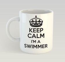 Keep Calm I'm A Swimmer Mug Funny Birthday Novelty Gift Swim Swimming
