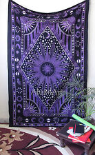 Celestial Sun and Moon Tapestry Psychedelic Zodiac Small Tapestry Wall Hangings