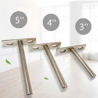 10x Concealed Floating Hidden Wall Shelf Support Metal Brackets Heavy Duty Tool