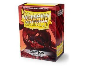 Classic Crimson 100 ct Dragon Shield Sleeves Standard Size SHIPS FREE 10% OFF 2+