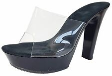 "Las Vegas Fashions Women 4.5"" Stiletto Heels 5250 BLACK - UK Size 3.5"