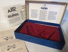 AURORA AFX SUPER II SLOT CAR RARE GOLD??? BOX & PLASTIC INSERT & DIAGRAM T-JET