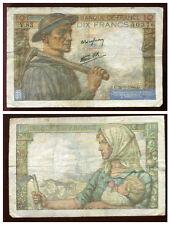 10 francs MINEUR  22/06/1944   ( V 83 )  ( 50376 )