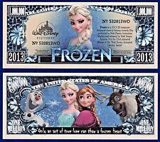 1-Disney Frozen  Dollar-Bill-Movie Anna Elsa Kids Comedy - Novelty   - E2