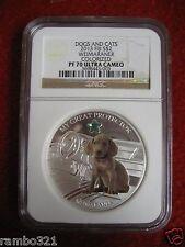 2013 Fiji Dogs & Cats Series Weimaraner NGC PR70 Ultra Cameo Silver Coin dog 1oz