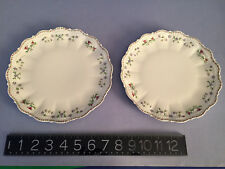 SUPER RARE: TWO Limoges Giraud Sauviat 1836 FRANCE 8 inch PLATES- TRIPLE MINT
