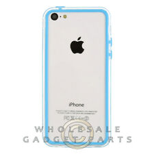 Apple iPhone 5C/i5C/Lite Protective Bumper Baby Blue/Transparent Clear