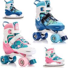 2in1 KINDER Rollschuhe + Schlittschuhe Roller Skates Inliner METEOR
