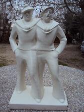 Deux marins en goguette céramique art-déco  Dax