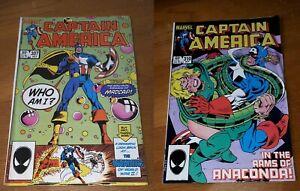 MARVEL CAPTAIN AMERICA COMIC BOOKS # 307 & # 310