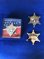 Vintage Sheriff Badges  -Texas  -Souvenir Lot Of 3