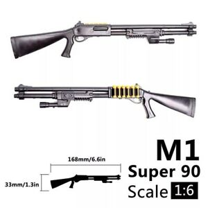 "1/6 Scale M1 Shotgun Rifle Gun Weapon Military For 12"" Action Figure Soldier UK"