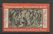 Steckenpferd Lilienmilch Seife (Lily Milk Soap) advertising stamp/label
