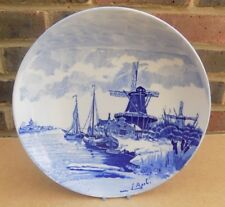 Antqiue DELFT Winter Scene Charger / Plate - Louis Apol